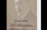 Réédition des Conséquences politiques de la paix de Bainville avec une préface de Pierre Hillard