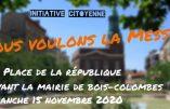 15 novembre 2020 à Bois-Colombes – Nous voulons la Messe !