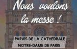 13 novembre 2020 à Paris – Nous voulons la Messe !