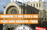 22 novembre 2020 à Paris – Nous voulons la Messe !