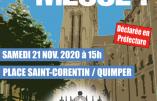 Samedi 21 novembre 2020 à 15h à Quimper – Nous voulons la Messe !