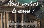 15 novembre 2020 à Saint-Germain-en-Laye – Nous voulons la Messe !