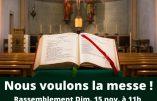 15 novembre 2020 à Strasbourg – Nous voulons la Messe !
