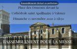 15 novembre 2020 à Valence – Nous voulons la Messe !