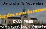 15 novembre 2020 à Versailles – Nous voulons la Messe !