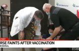 Images de l'infirmière s'écroulant en direct devant les caméras de la TV Américaine après avoir reçu le vaccin anti-Covid