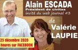 Message de Noël de Valérie Laupies et Alain Escada