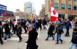 Canada – Manifestation contre la dictature sanitaire voulue par l'oligarchie mondialiste