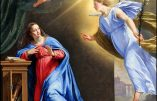 Jeudi 25 mars – L'Annonciation de la Bienheureuse Vierge Marie, Mère de Dieu
