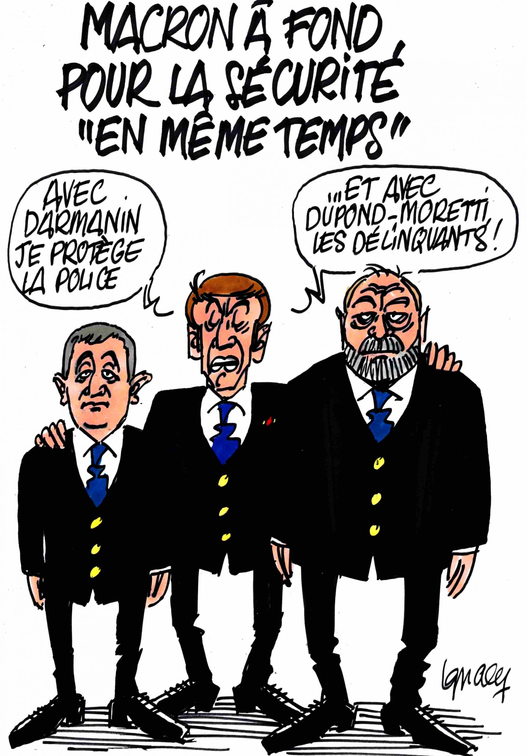 """Ignace - Macron à fond pour la sécurité """"en même temps"""""""