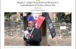 """""""Bergerac : malgré l'interdiction préfectorale, le rassemblement de Civitas a bien eu lieu"""" [Quotidien Sud-Ouest]"""