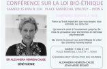 15 mai 2021 à 11h à Lyon – Conférence d'Alexandra Henrion Caude