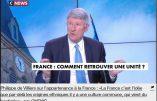 """Philippe de VILLIERS n'aime décidément plus Macron qu'il traite de """"Pitre de la République"""""""
