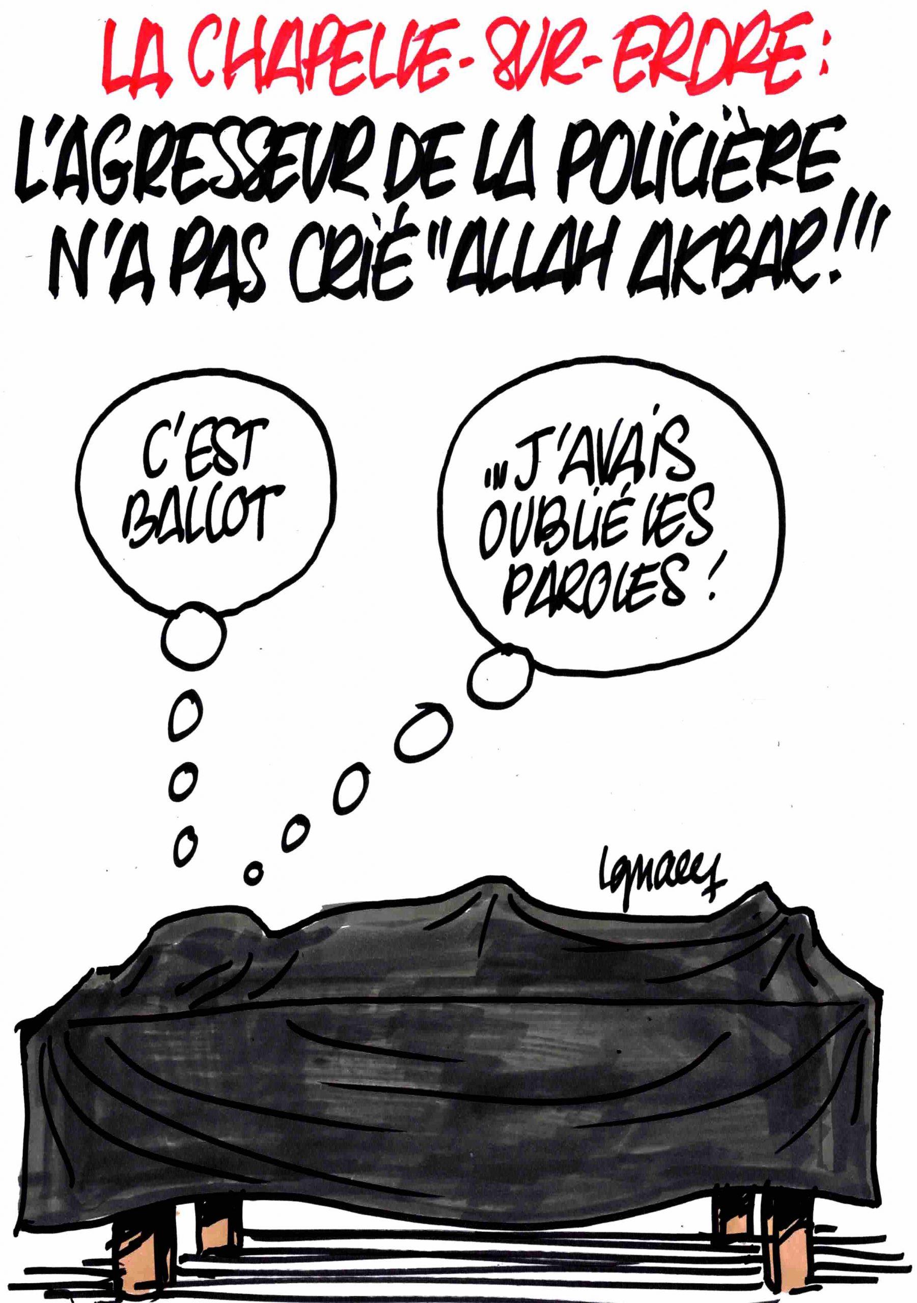 """Ignace - L'agresseur de la policière n'avait pas crié """"Allah akbar !"""""""