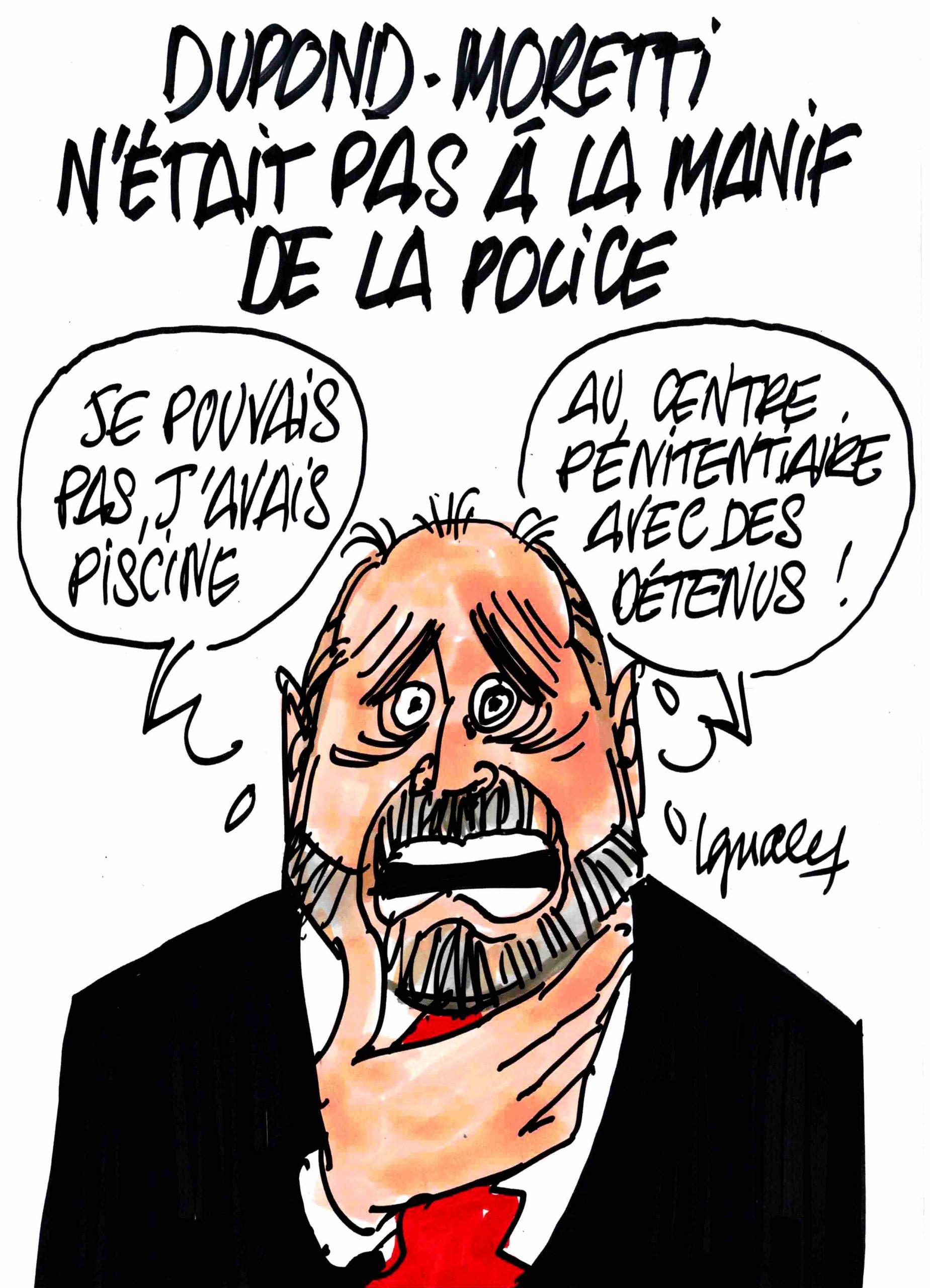 Ignace - Dupond-Moretti n'était pas à la manif de la police