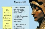 Samedi 29 mai 2021 à Moulins – Hommage public à Sainte Jeanne d'Arc