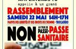 Samedi 22 mai à Paris : rassemblement contre le passe sanitaire