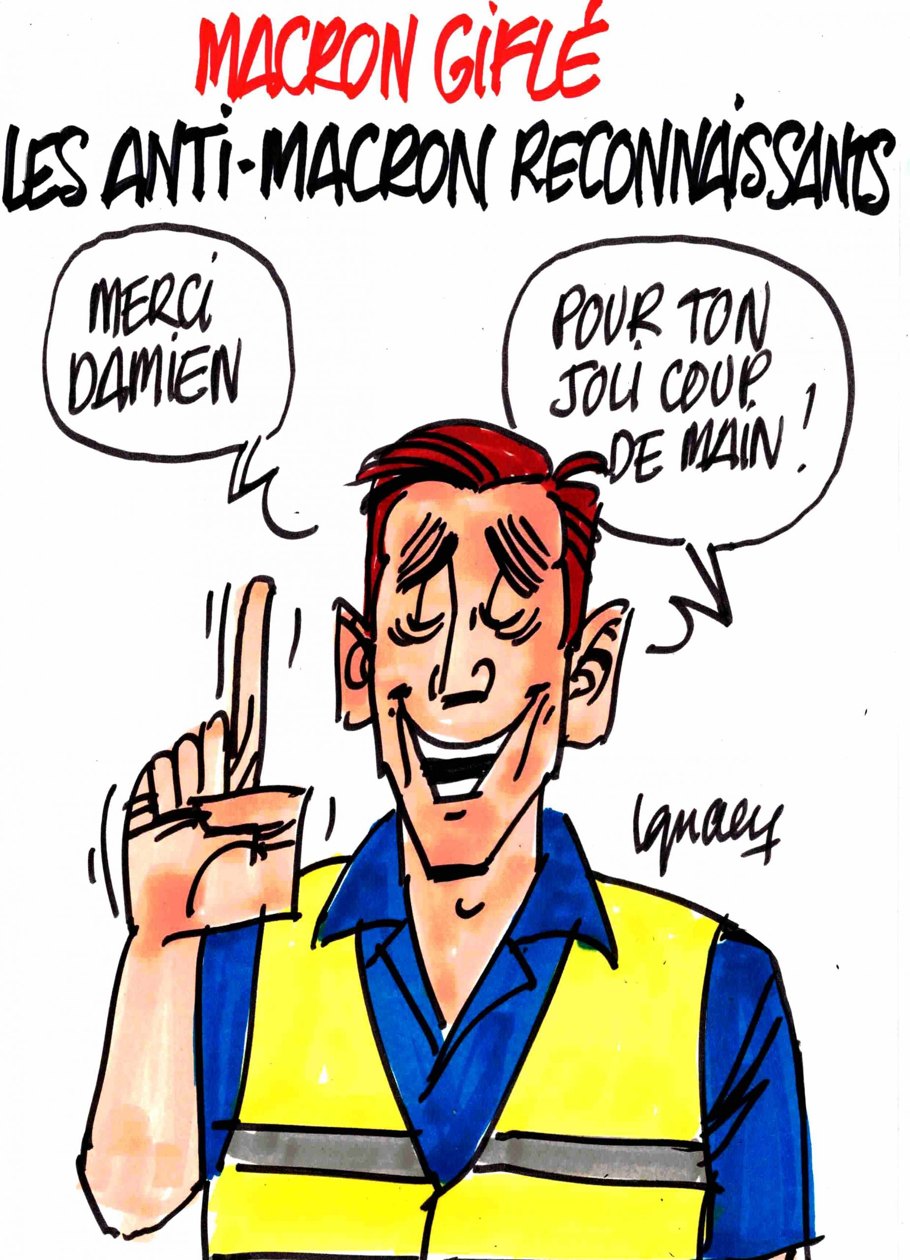 Ignace - Macron giflé