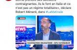 Robert Ménard rejoint la meute au service de la dictature sanitaire et de la vaccination obligatoire