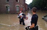 Dans toutes les régions frappées par de graves inondations, personne ne demande si les pompiers sont vaccinés contre le Covid
