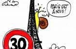 Ignace - Limitation à 30 km/h dans la capitale