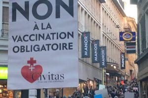 En Suisse aussi, Civitas est à la pointe du combat contre la dictature sanitaire, le passeport sanitaire et la vaccination obligatoire